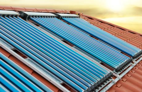 Солнечные коллекторы установленные компанией Ренеко