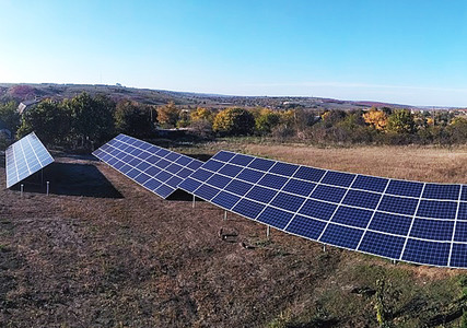 Наземный монтаж солнечных панелей