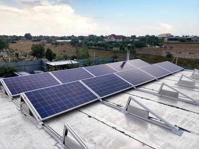 Крышная установка солнечных панелей