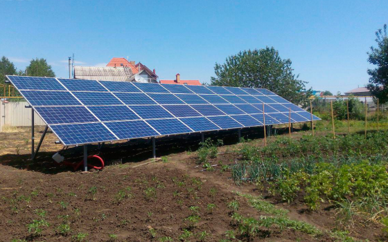 Сетевая солнечная электростанция 25 кВт под «Зеленый тариф»