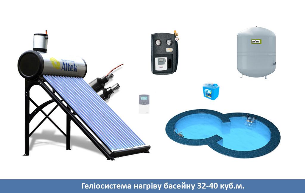 солнечный коллектор для нагрева воды 32-40
