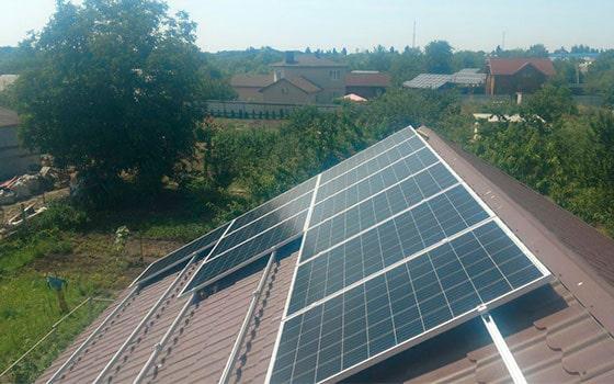 Сетевая солнечная станция в Украине