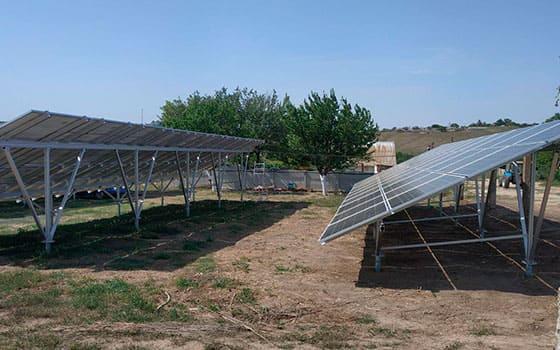 Солнечная станция 30 кВт на земле