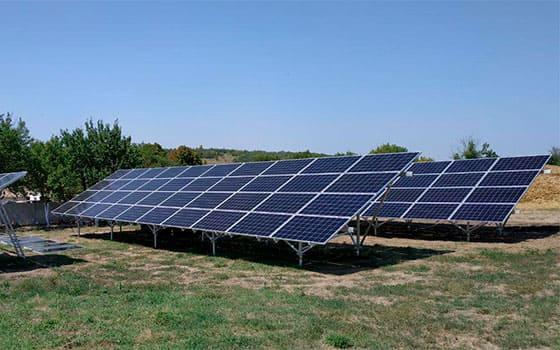 Солнечная станция в Одесской области