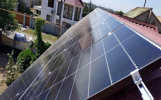 Солнечные панели на СЭС