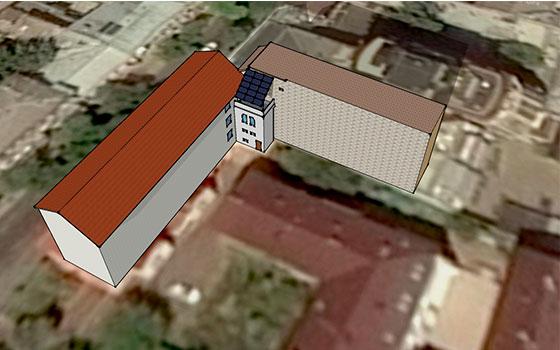 Визуализация солнечной станции в многоквартирном доме